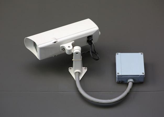 Cctv überwachungskamera des morden-gebäudes