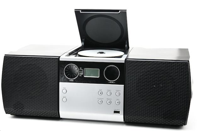 Cd und radiogerät zum hören von musik und ton. cd boombox