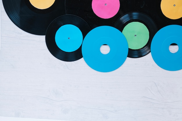 Cds auf vinyl-schallplatten
