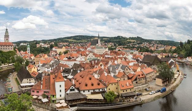 Cesky krumlov, tschechische republik panorama