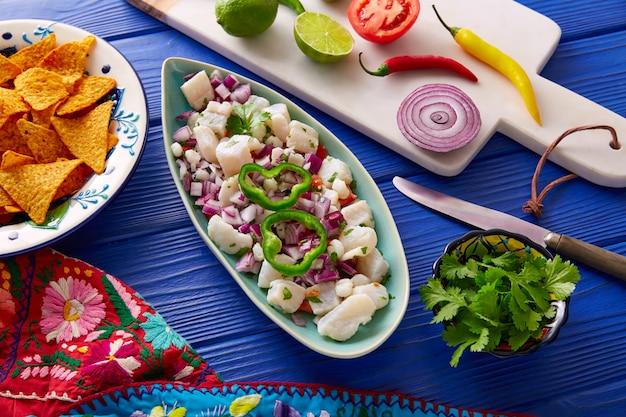 Ceviche mexikanisches rezept mit nachos
