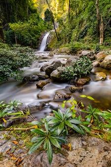 Chae son waterfall lampang, thailand