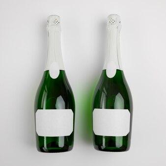 Champagnerflasche für neujahr