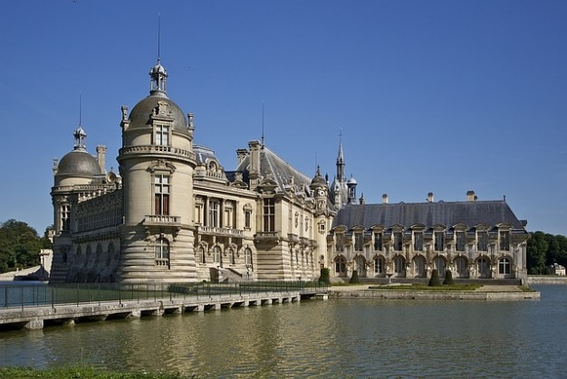 Chantilly geschlossenen graben chateau
