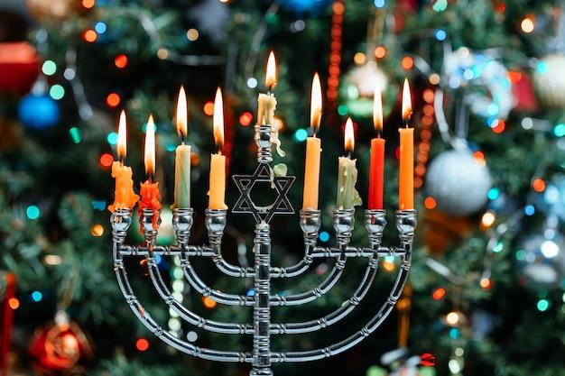 Chanukah menorah chanukiah jüdischer feiertag