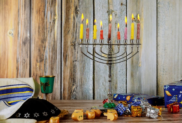 Chanukka-kerzen, jüdische feiertage