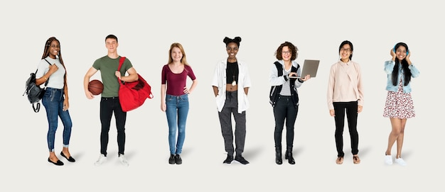 Charaktermodelle für junge studenten eingestellt