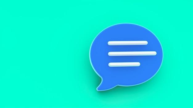 Chat-blasensymbol. konzept von social media nachrichten, sms, kommentaren.
