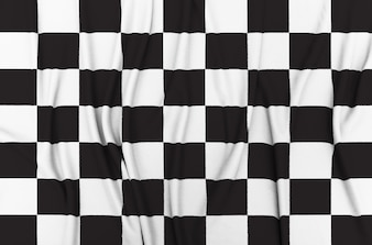 Checkered Rennen Flagge