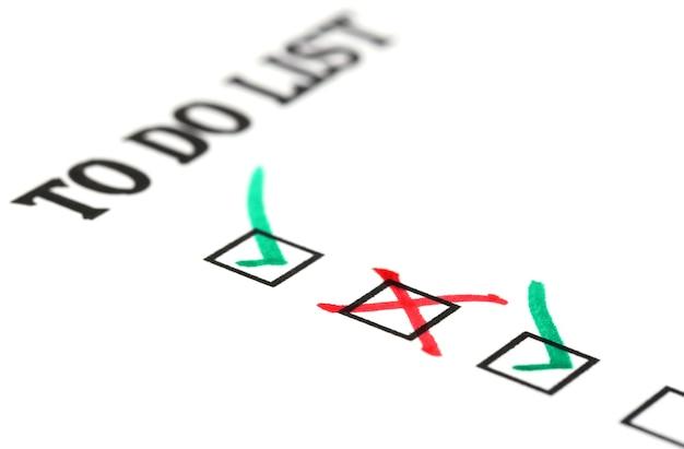 Checkliste auf whitepaper zu tun