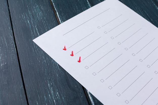Checklisten-konzept