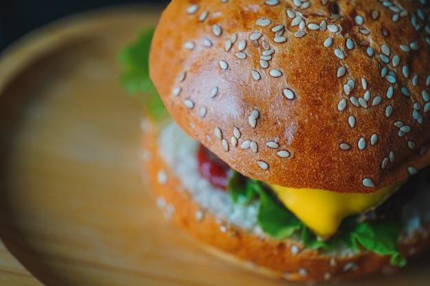 Cheeseburger nahaufnahme