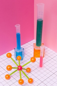 Chemie fächeranordnung stillleben