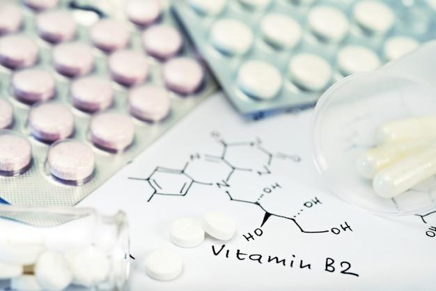 Chemische pillen und chemische formel