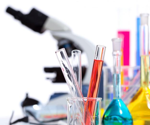 Chemische wissenschaftliche labormaterial-reagenzglasflasche