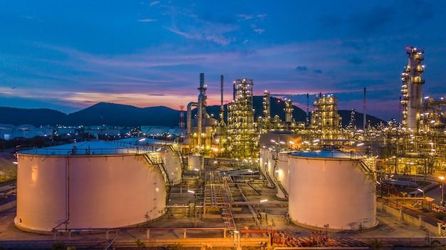 Chemischer behälter des luftdraufsicht-öls und des gases mit erdölraffinerieanlage