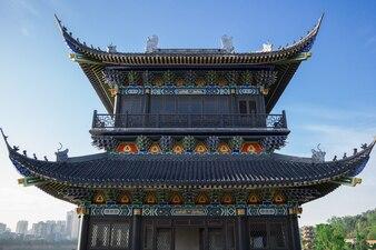 Cheng Du City ist im historischen Erbe der Stadt allgegenwärtig. Wohlhabende Metropole.