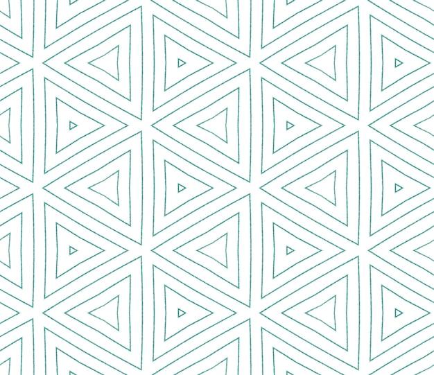 Chevron-streifen-design. türkisfarbener symmetrischer kaleidoskophintergrund. textilfertiger zusätzlicher druck, bademodenstoff, tapete, verpackung. geometrisches chevron-streifenmuster.
