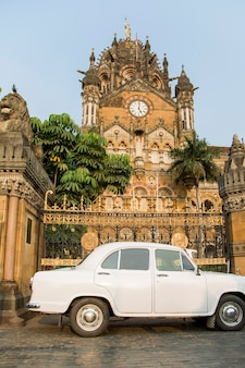 Chhatrapati shivaji terminus in mumbai, indien.