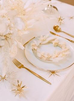 Chic dekor romantisches abendessen valentinstag diagonale