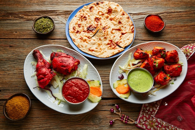 Chicken tandoori und chicken tikka