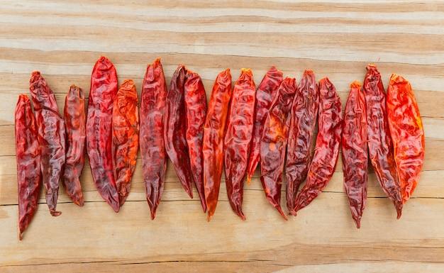 Chile de arbol seco getrockneter heißer arbol-pfeffer