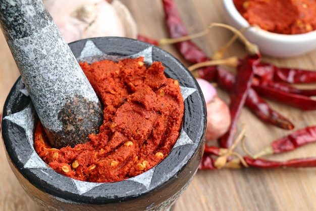 Chili-curry und zutaten