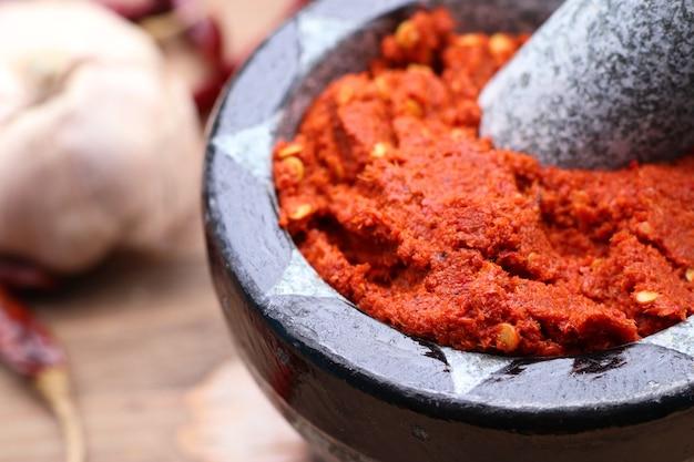 Chili curry und zutaten
