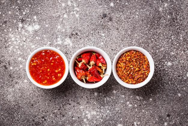 Chili-sauce mit getrockneten paprikaschoten