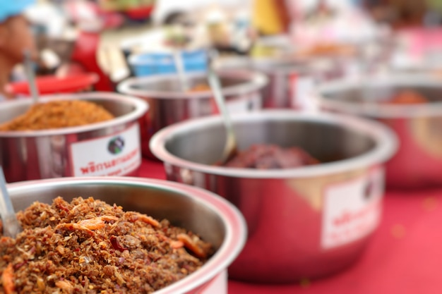 Chilipaste im street food
