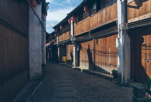 China alten huizhou architektur und stein straße