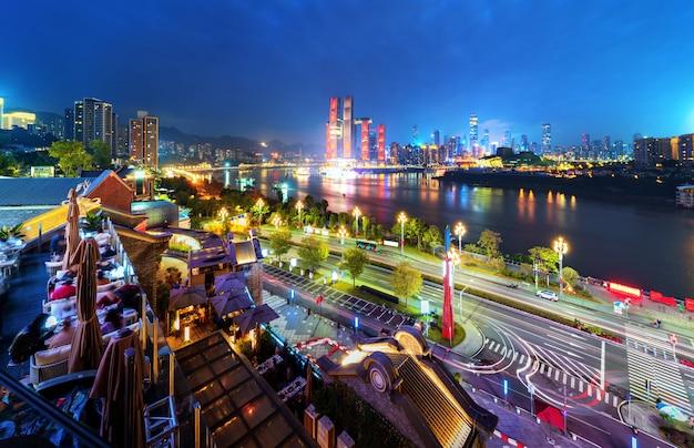 China chongqing lichter der stadt