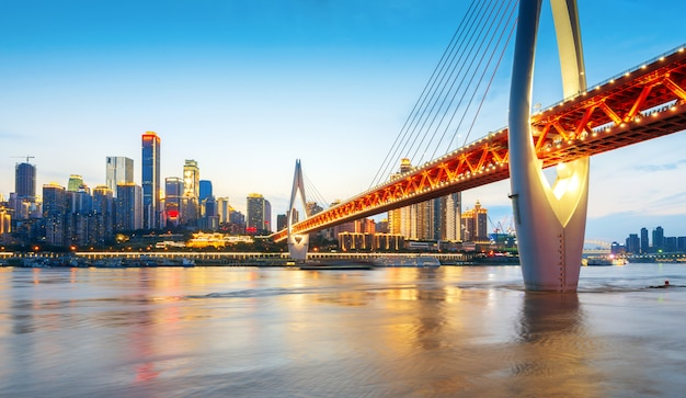 China chongqing stadtlichter