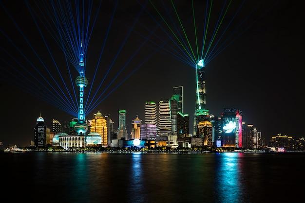 China, shanghai, sehenswürdigkeiten, gebäude, städte, hohe gebäude, landschaft, sonnenaufgang, wohlstand, große städte, international, nachtlandschaft, brücken, lichter, nationalfeiertag, 70. jahrestag,