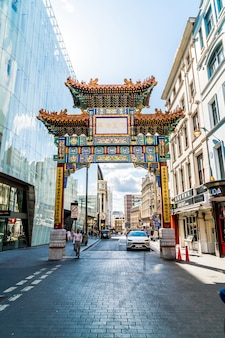 Chinatown chinatown bietet viele restaurants, bäckereien und souvenirläden in der nähe der gerrard street in der gegend von soho.