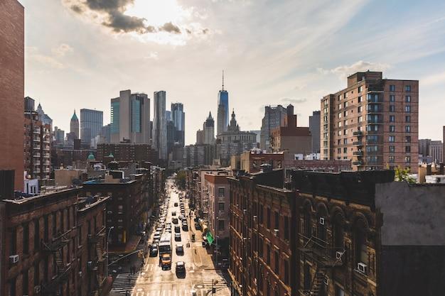 Chinatown und im stadtzentrum gelegenes manhattan in new york