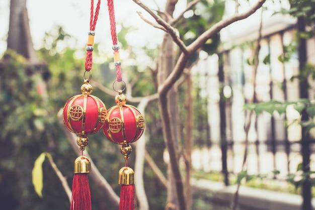 Chinesisch, dekoration im linaren neujahr