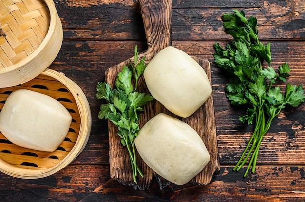 Chinesische dampfbrötchen bao.