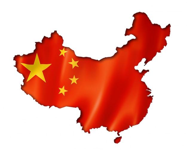Chinesische flagge karte