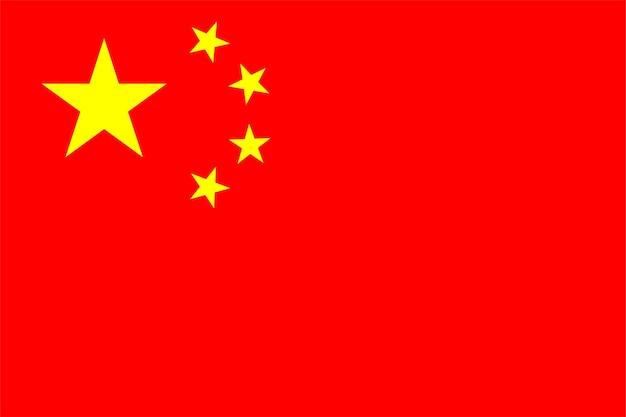 Chinesische flagge von china