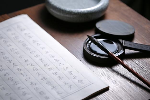 Chinesische kalligraphie szene text: chinesische alte prosa