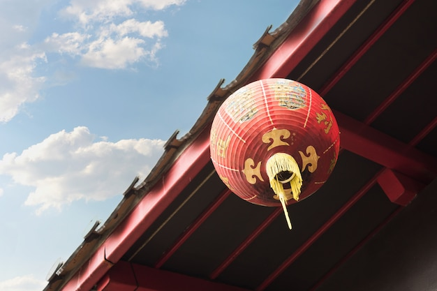 Chinesische laternen des neuen jahres in der porzellanstadt.