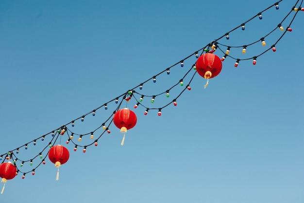 Chinesische laternen im himmel