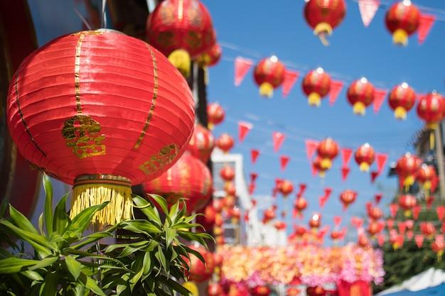 Chinesische neujahrslaternen in china town.