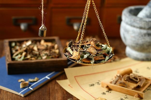 Chinesische traditionelle kräutermedizin in steelyard übersetzung liest sich als chinesische kräutertherapie