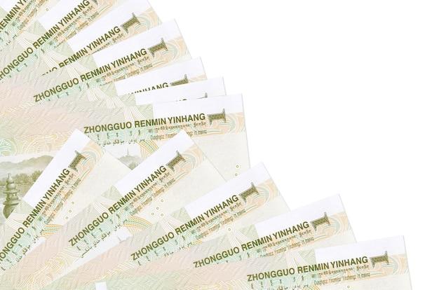 Chinesische yuan-rechnungen liegen isoliert