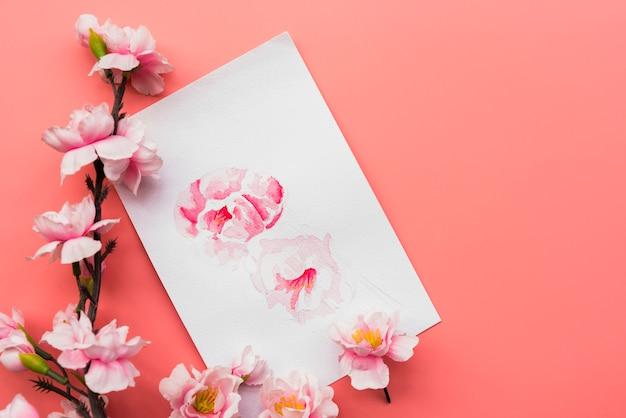 Chinesische zusammensetzung des neuen jahres mit papier