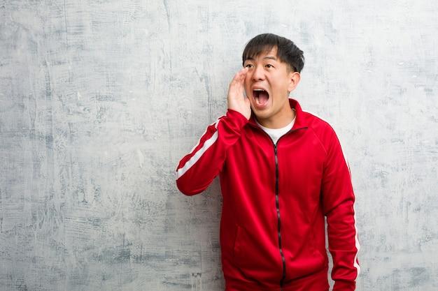 Chinesischer flüsternder klatschunterton der jungen sporteignung