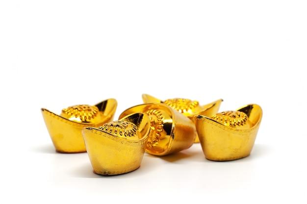 Chinesischer gold-sycee- oder yuanbao-bootsbarren