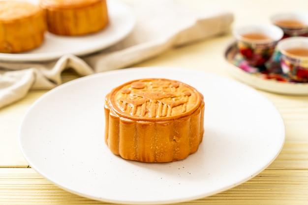Chinesischer mondkuchen für chinesisches mittherbstfest